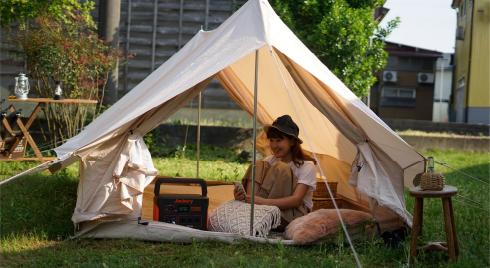キャンプなどのアウトドア
